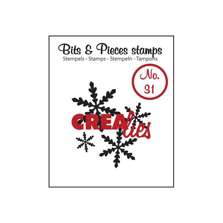 Stempel silikonowy - Śnieżynki 1 - Crealies - Bits & Pieces no. 31