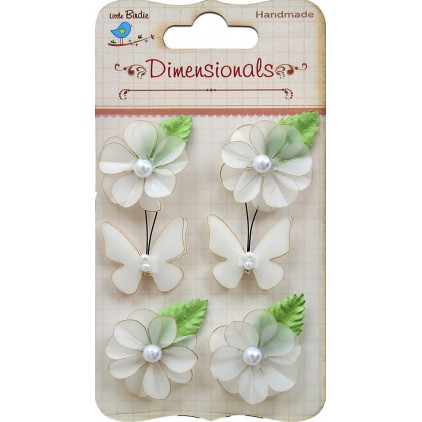 Paper flower set - Vellum Bloom with butterflies