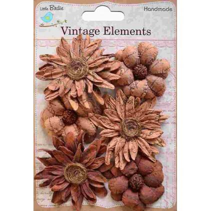 Zestaw papierowych kwiatów - Vintage Phoebe Petals Terracotta