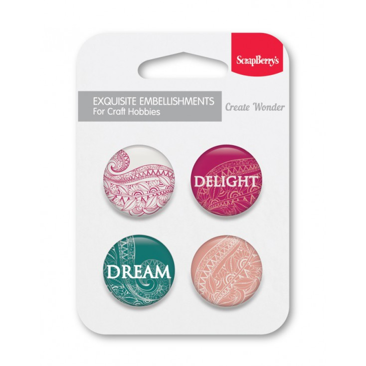 Selfadhesive buttons/badge - ScrapBerry's - Delight