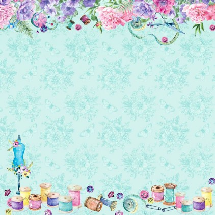 Scrapbooking paper - Scrapberry's Home Sweet Home - Sewing Fun
