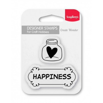 Set of clear stamps - ScrapBerry's - Happiness