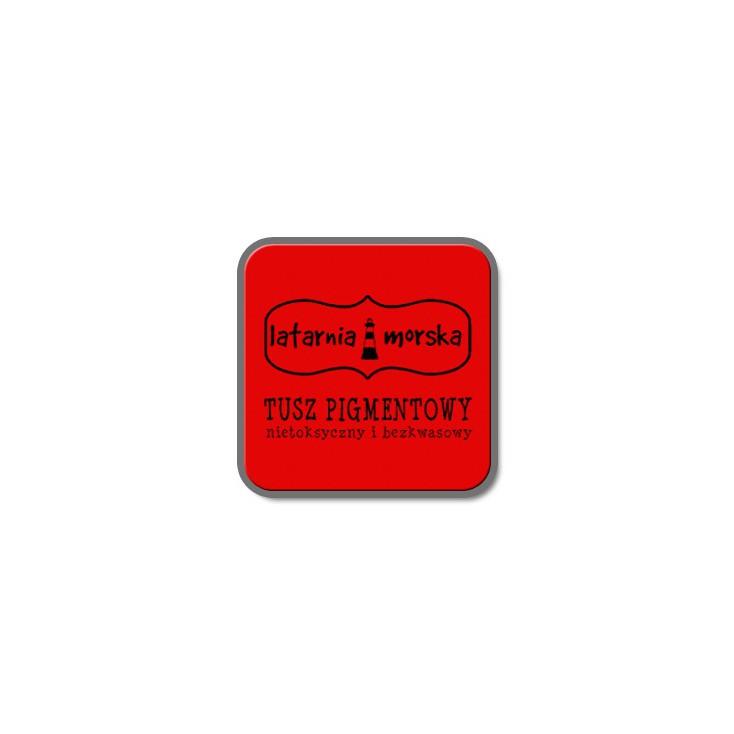 Tusz pigmentowy do stempli i embossingu - Czerwony