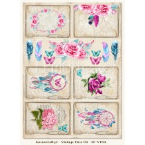 One-sided scrapbooking paper - Vintage Time 011
