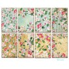 Set of mini scrapbooking papers - Decorer - Blossom