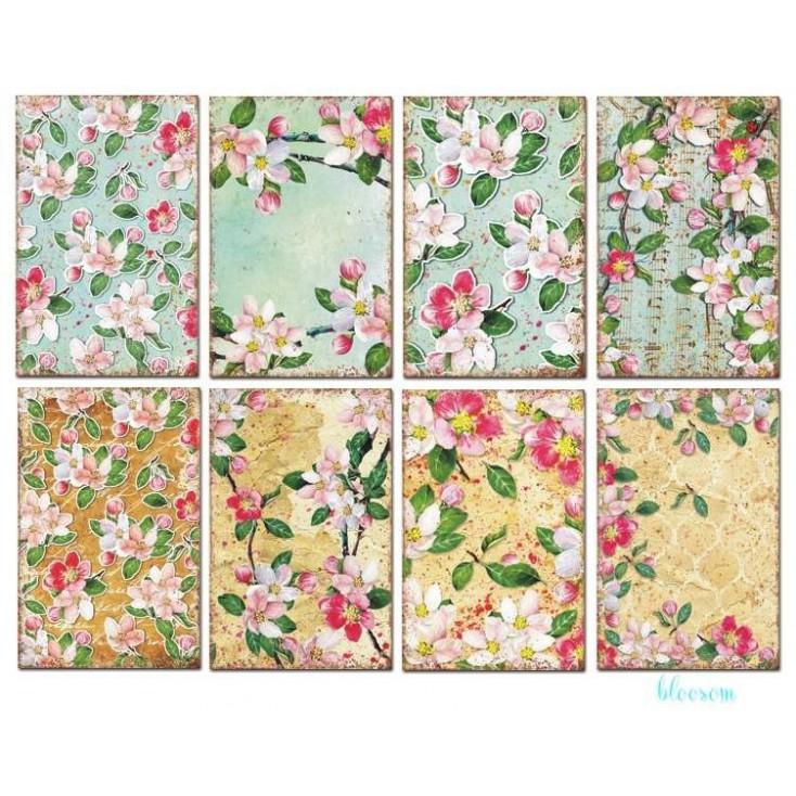 Zestaw mini papierów do scrapbookingu - Decorer - Blossom