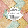Decorer - Set of scrapbooking papers - In Pastel Colors