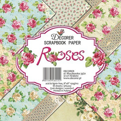 Decorer - Set of scrapbooking papers - Roses