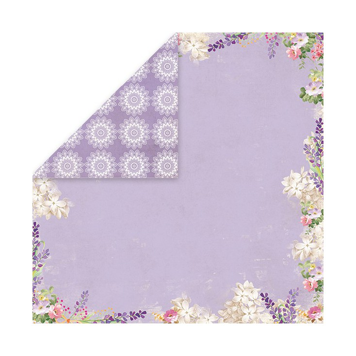 Scrapbooking paper - Craft and You Design - Lavender Garden - 03