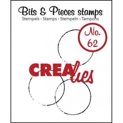 Clear stamp - Big grunge circles - Crealies - Bits & Pieces no. 62