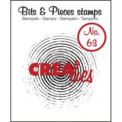 Clear stamp - Grunge circles in circles - Crealies - Bits & Pieces no. 63