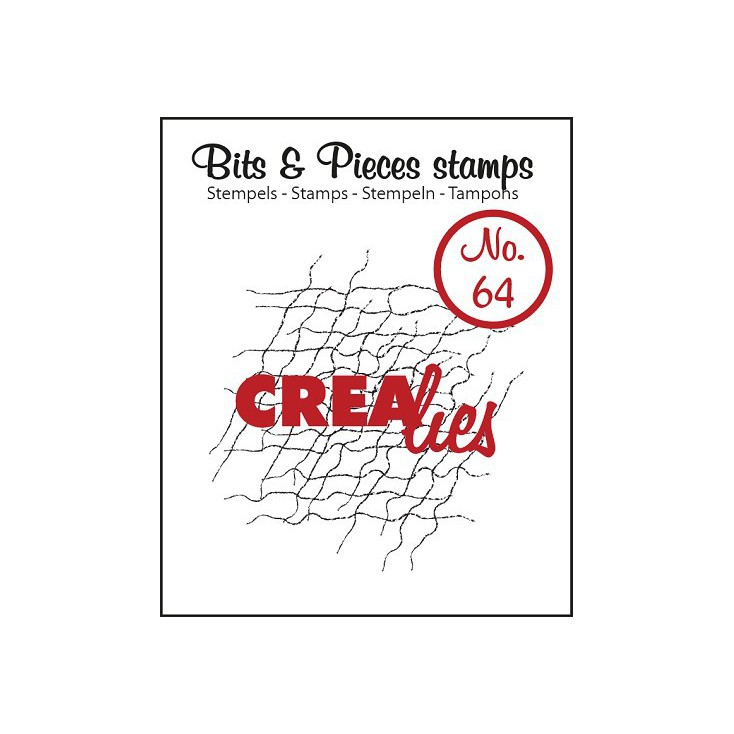 Clear stamp - Messy fibers - Crealies - Bits & Pieces no. 64