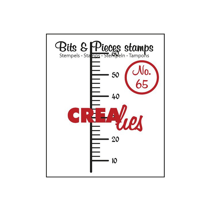 Stempel silikonowy - Miarka - Crealies - Bits & Pieces no. 65