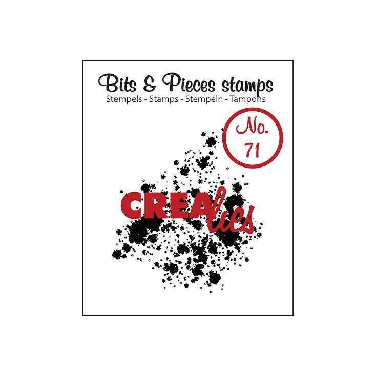 Clear stamp - Ink splashes bold - Crealies - Bits & Pieces no. 71