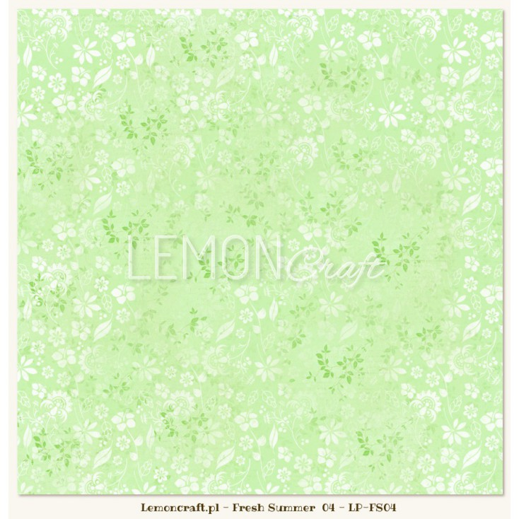 Double sided scrapbooking paper - Fresh Summer 04