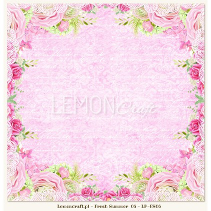 Double sided scrapbooking paper - Fresh Summer 06