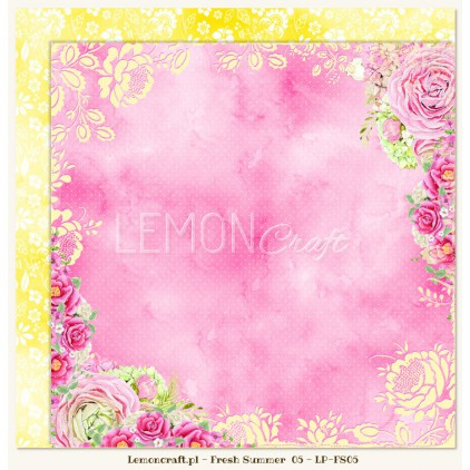 Double sided scrapbooking paper - Fresh Summer 05