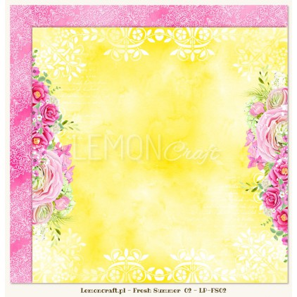 Double sided scrapbooking paper - Fresh Summer 02