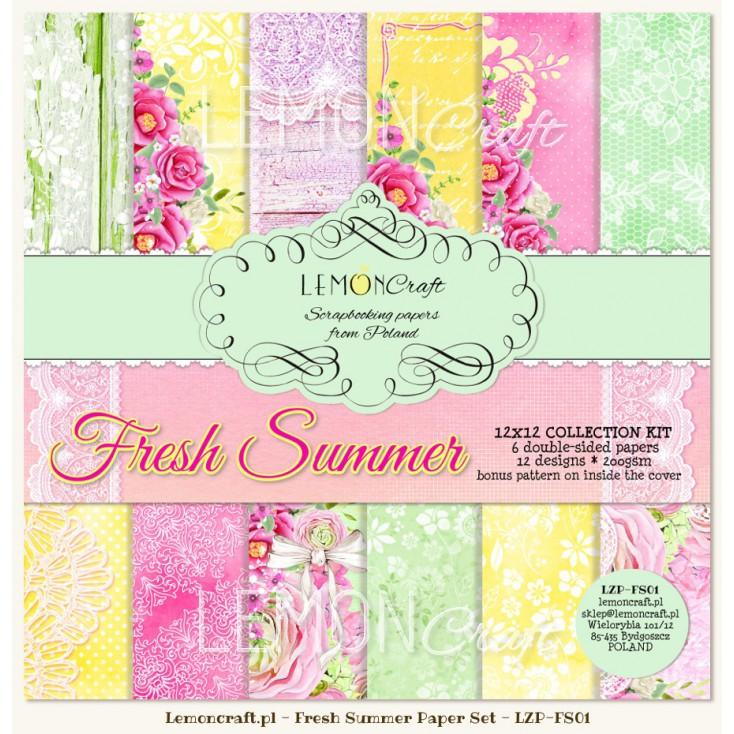 Zestaw papierów do scrapbookingu - Fresh Summer