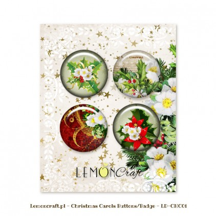 Christmas Carols Buttons / Badges