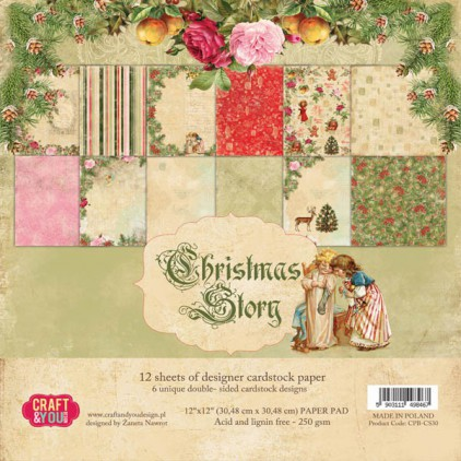 Craft and You Design - Set of scrapbooking papers - Christmas Story