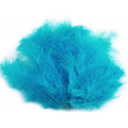 Ostrich feathers - turquoise