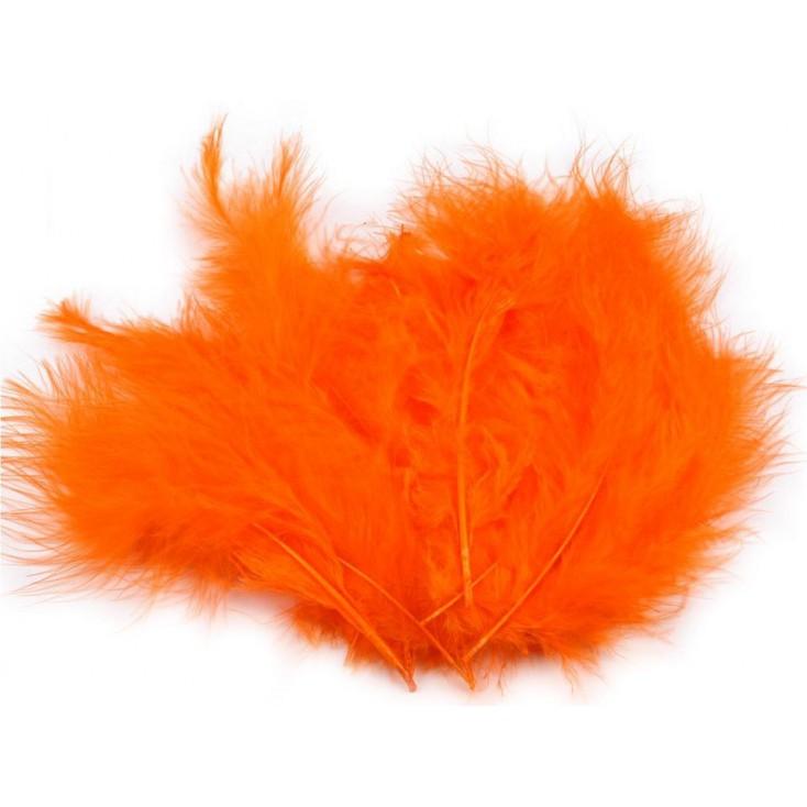 Strusie piórka - Pomarańczowe