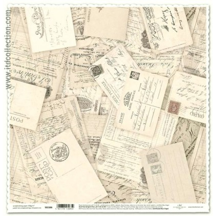 Papier vintage do scrapbookingu stare karty- ITD Collection SCL586