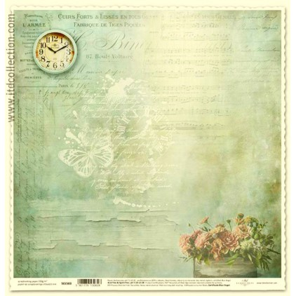 Papier do scrapbookingu zegar -ITD Collection SCL583