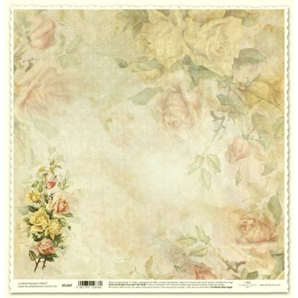 Papier do scrapbookingu vintage róże - ITD Collection SCL567