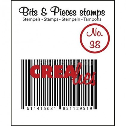 Clear stamp Crealies - Bits & Pieces no. 38 - Barcode