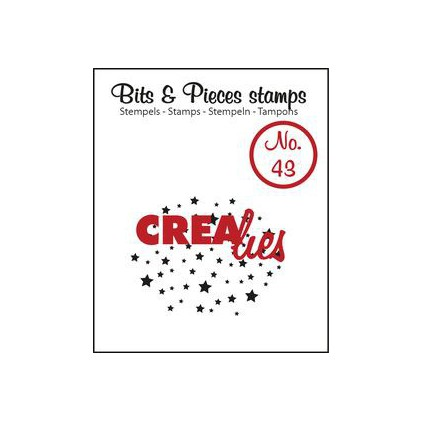 Clear stamp Crealies - Bits & Pieces no. 43