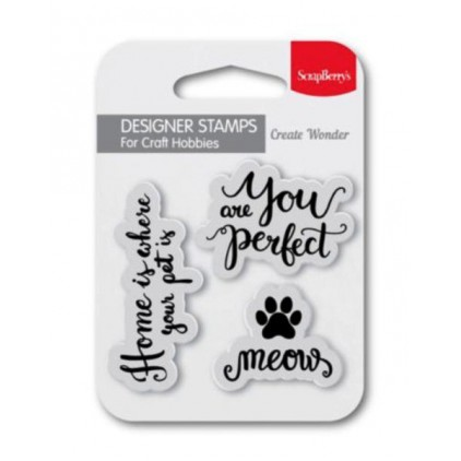 Set of clear stamps - ScrapBerry's - You are perfect