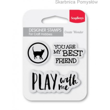 Set of clear stamps - ScrapBerry's - You are my best friend