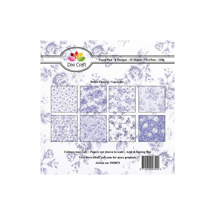 Dixi Craft - Mały bloczek papierów do scrapbookingu - Lavender