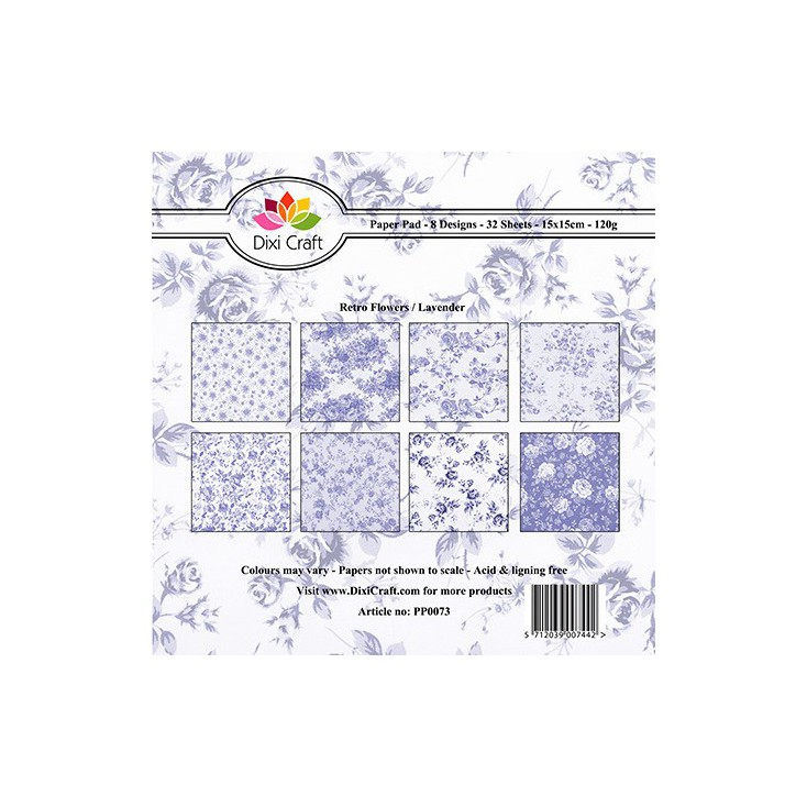 Dixi Craft - Pad of scrapbooking papers - Lavender