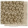 Sukienka czy koszula? Brązowy papier w róże - Papier do scrapbookingu - Maja Design Vintage Autumn Basics no. XVII