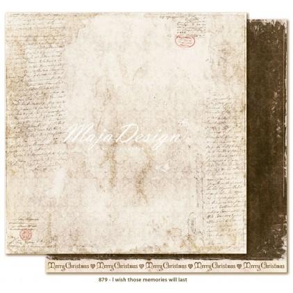 Scrapbooking paper - Maja Design - I wish those memories will last