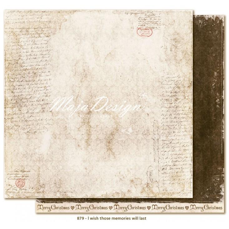 Papier jak stary list - Papier do scrapbookingu - Maja Design - I wish those memories will last