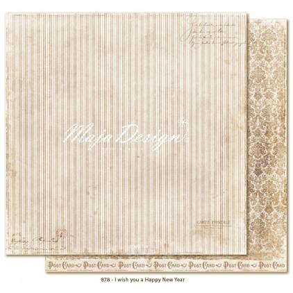 Paki lub damski - Papier do scrapbookingu - Maja Design - I wish you a happy new year