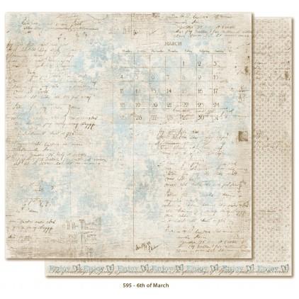 Papier w starodawne pismo - Papier do scrapbookingu - Maja Design - Vintage Spring Basics - 6th of March