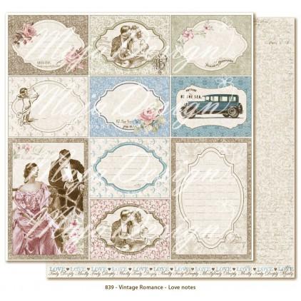 Romantyczne pocztówki retro 2 - Papier do scrapbookingu - Maja Design - Vintage Romance - Love notes