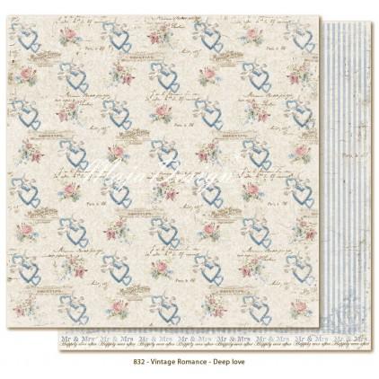 Scrapbooking paper - Maja Design - Vintage Romance - Deep love