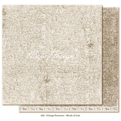 Scrapbooking paper - Maja Design - Vintage Romance - Words of love