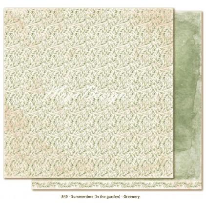 Papier w zielone listki - Papier do scrapbookingu - Maja Design - Summertime - Greenery