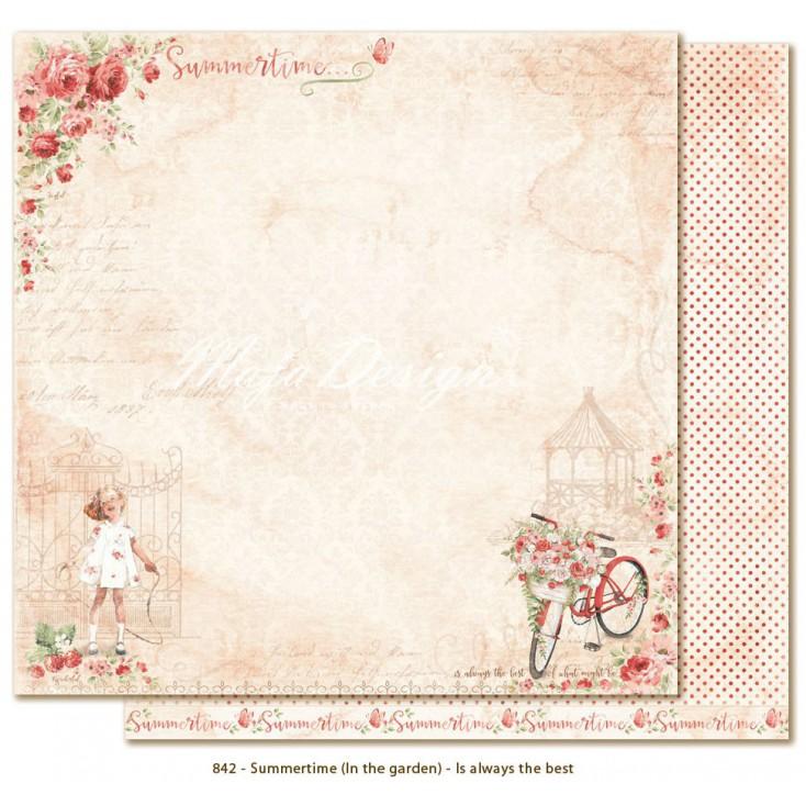 Papier w czerwone kropeczki - Papier do scrapbookingu - Maja Design - Summertime - Is always the best