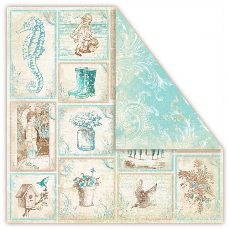 Papier do scrapbookingu - UHK Gallery - Provence AQUARIUS- souvenirs