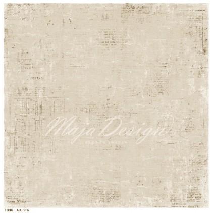 Papier vintage z przecierkami - Papier do scrapbookingu - Maja Design - Vintage Summer Basics - 1946