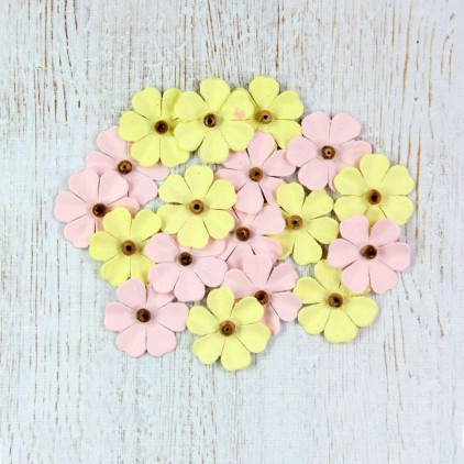 Paper flower set - Beaded Fancies Marshmallow