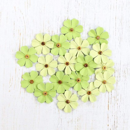 Paper flower set - Beaded Fancies Olive Fern